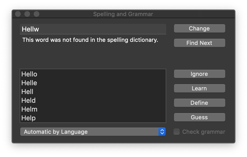 How to Spell Check you Swift code with Xcode 11